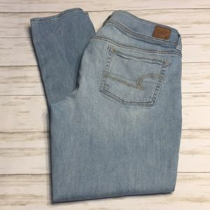Size 14 American Eagle Light Wash Skinny Jeans